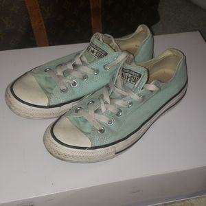 Mint colored converse all star